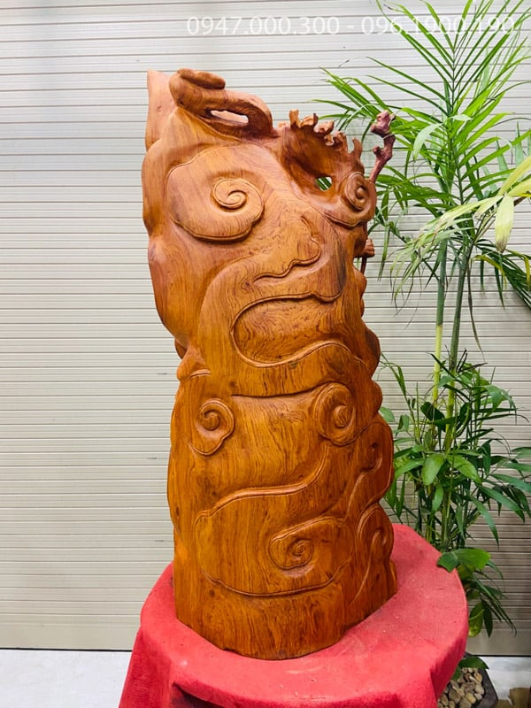 Đạt ma hàng long gỗ hương cao 1m