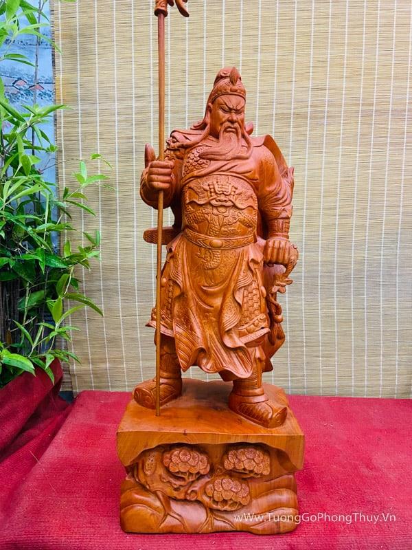 Tượng Quan công siêu đẹp cao 80cm gỗ hương
