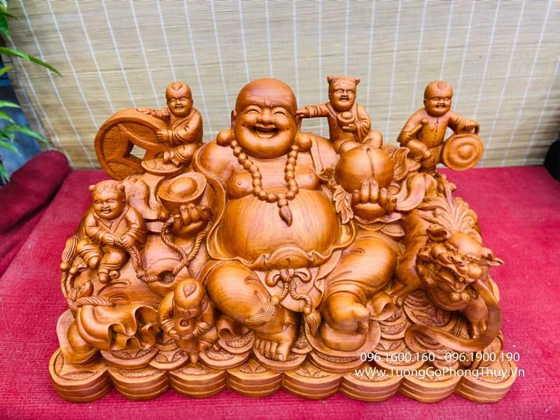Tượng Phật Di Lặc Ngồi Ngũ Phúc đẹp đỉnh cao