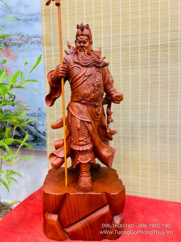 Tượng Quan Công Chống Đao cao 80cm