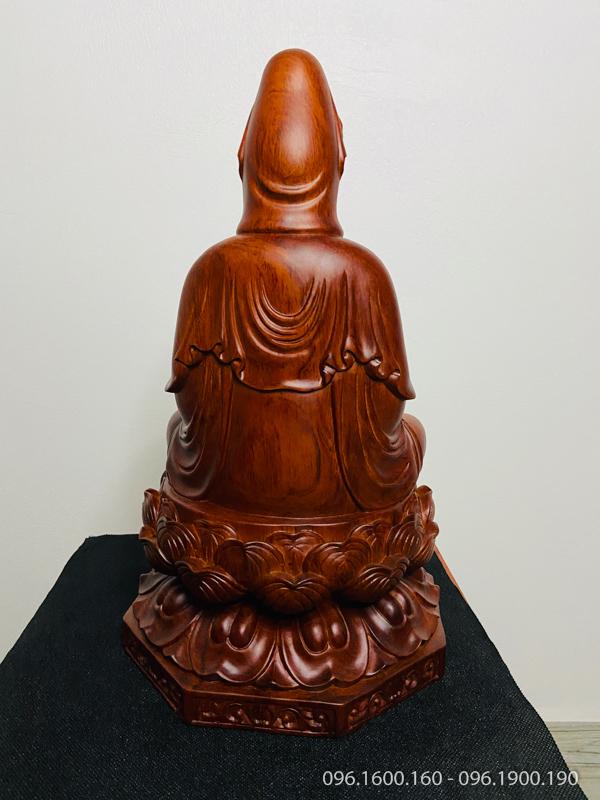 Tượng Phật Quan âm ngồi đài sen đẹp cao 40cm