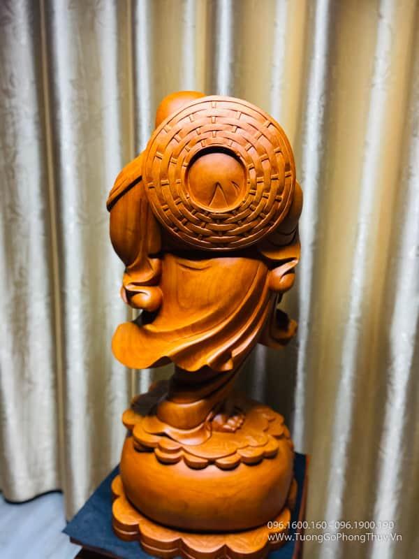 Tượng Phật Di Lặc đứng búng bi cao 70cm