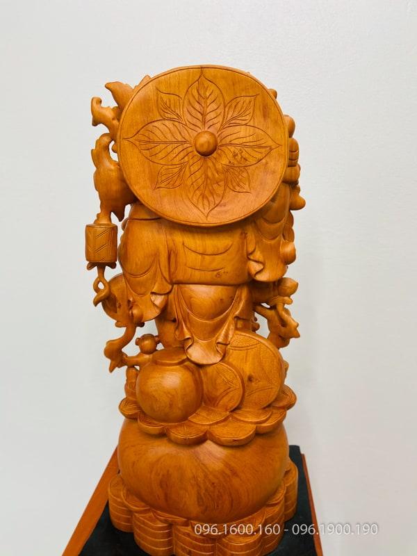 Tượng phật di lặc ngũ phúc gỗ hương cao 70cm