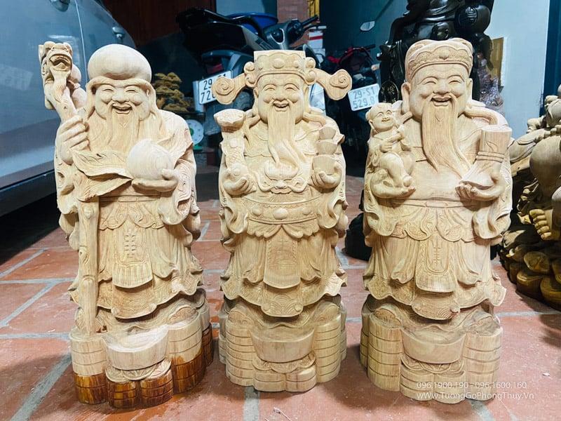 Tượng Tam đa Phúc Lộc Thọ gỗ hương đẹp số 1 vn