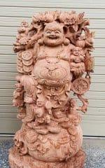 105+ Tượng di lặc gánh đào, ngồi gốc đào đẹp nhất và Ý nghĩa phong thủy