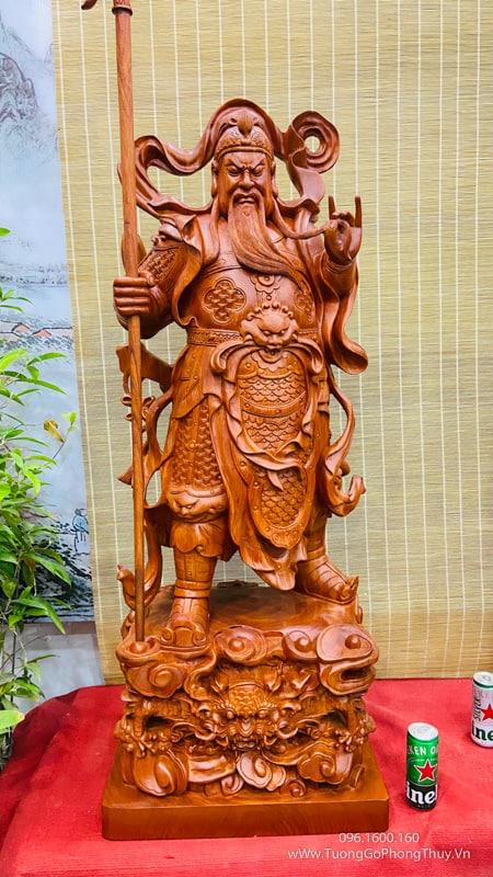 Tượng Quan Công mẫu nghệ nhân cao 80cm
