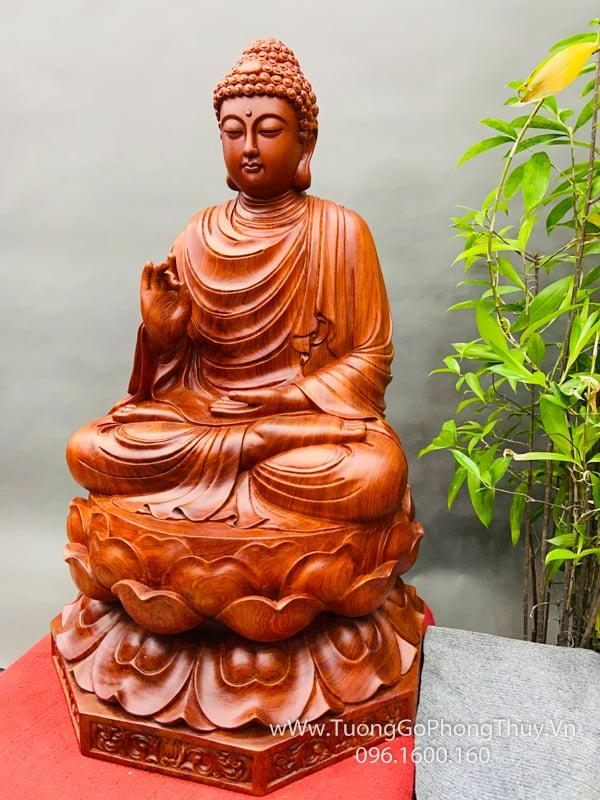 Tượng Phật Bổn Sư Thích Ca gỗ hương đẹp đỉnh cao