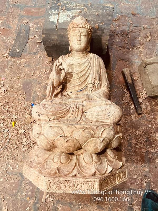 Tượng Phật Thích Ca gỗ hương hàng đặt