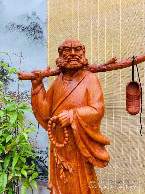 Tượng Đạt Ma gỗ đẹp hàng nghệ nhân đỉnh cao