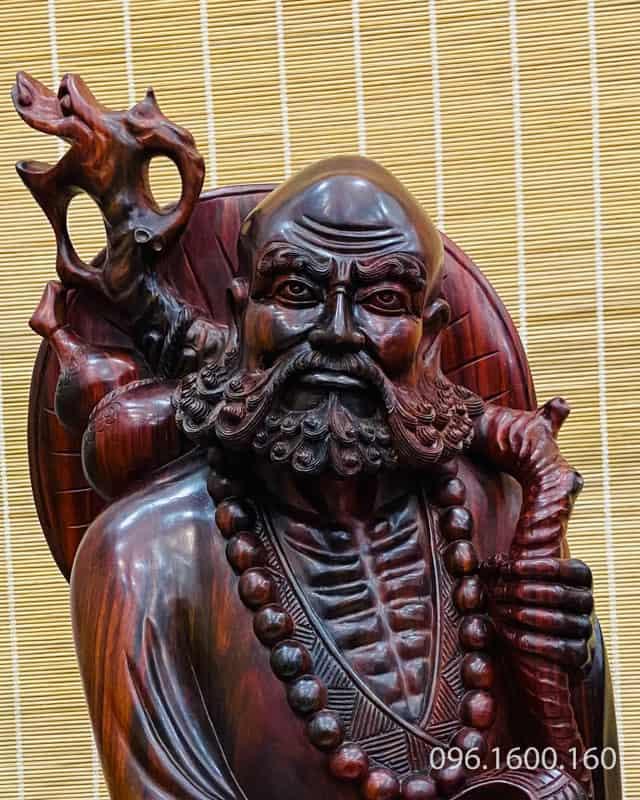 Tượng đạt ma gỗ trắc hàng nghệ nhân đỉnh cao