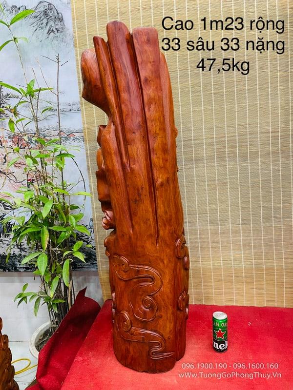 Tượng Đạt Ma Hàng Long hương ta cao 1m23