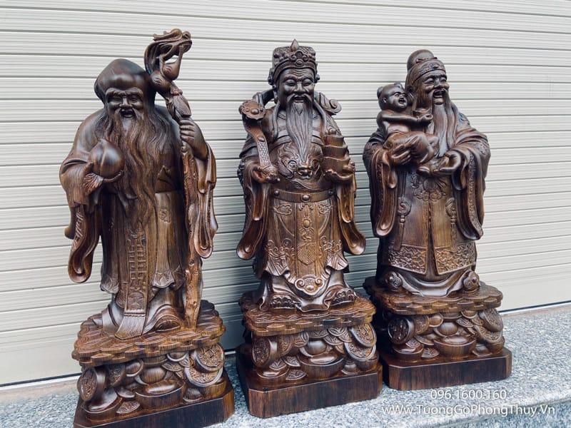 Tượng Tam Đa - Phúc Lộc Thọ gỗ mun siêu đỉnh