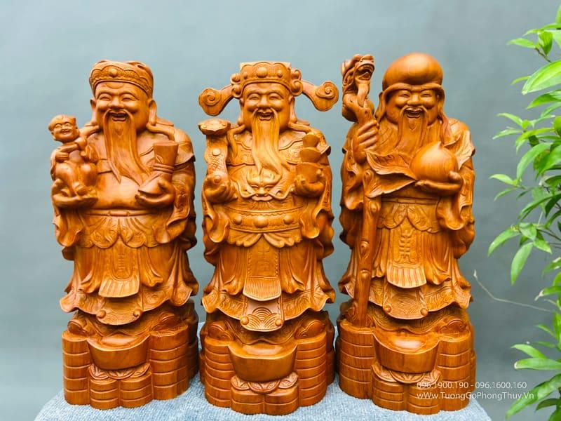 Báo giá Tượng gỗ Phúc Lộc Thọ đẹp nhất - ý nghĩa, vị trí đặt tượng tam đa