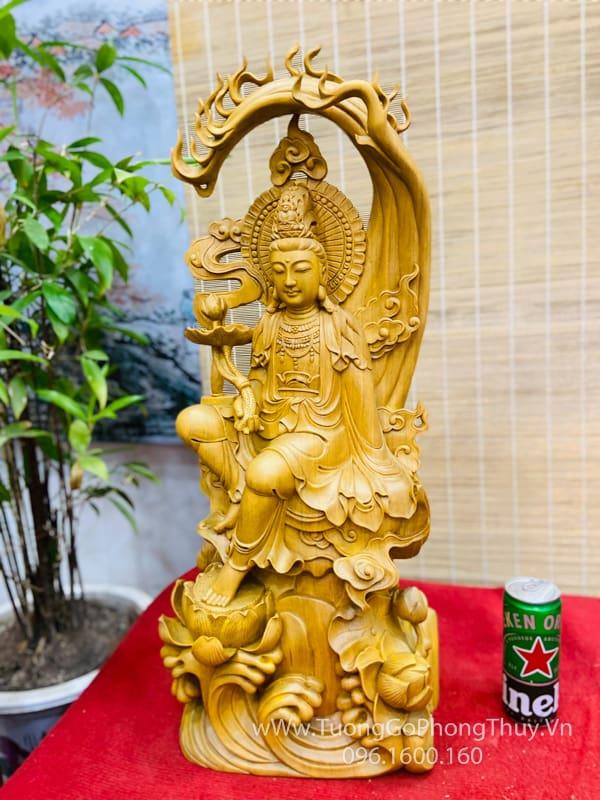 Tượng gỗ Quan âm tự tại đẹp đỉnh cao