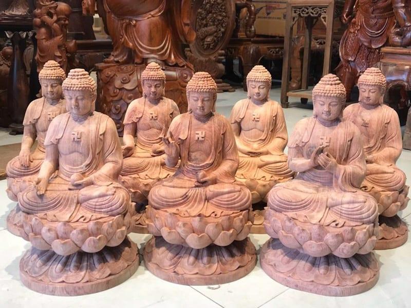 Tượng gỗ Thất Phật Dược Sư đẹp đỉnh cao