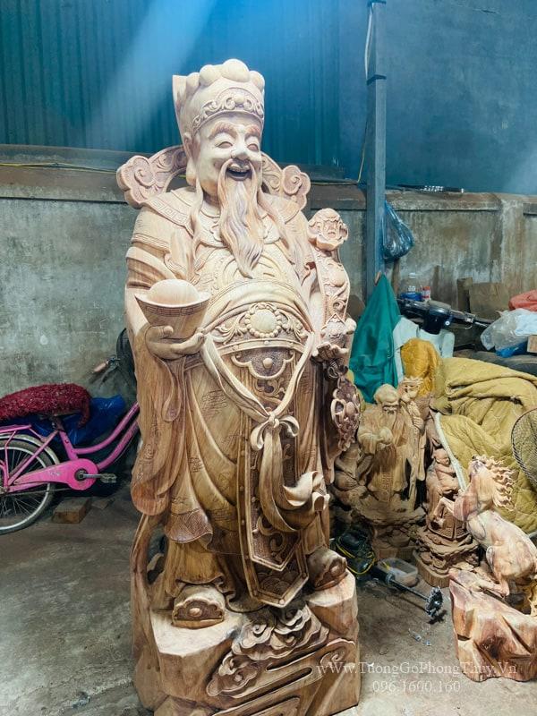 Tượng Thần Tài gỗ hương 1m8 nghệ nhân số 1 Vn