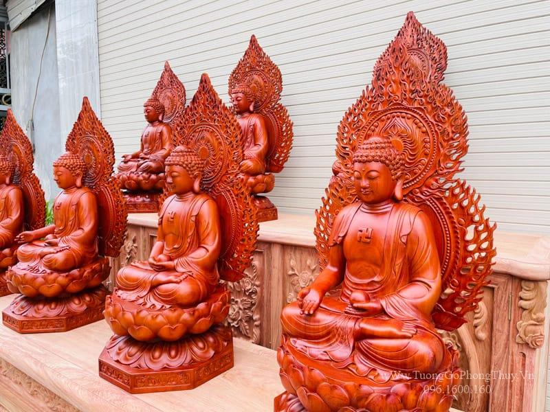 Bộ tượng Thất Phật Dược Sư đẹp,có hồn